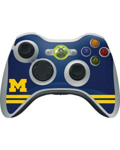 Michigan Logo Striped Xbox 360 Wireless Controller Skin