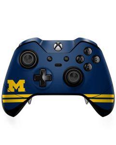 Michigan Logo Striped Xbox One Elite Controller Skin