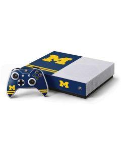 Michigan Logo Striped Xbox One S All-Digital Edition Bundle Skin