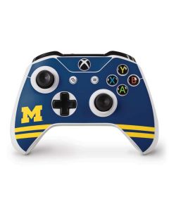 Michigan Logo Striped Xbox One S Controller Skin