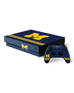 Michigan Logo Striped Xbox One X Bundle Skin