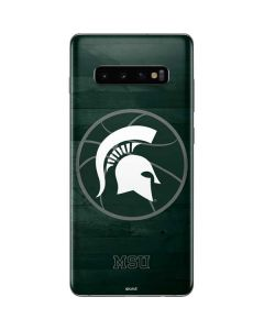 Michigan State Basketball Courtside Galaxy S10 Plus Skin