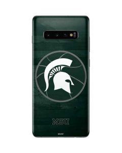 Michigan State Basketball Courtside Galaxy S10 Plus Skin
