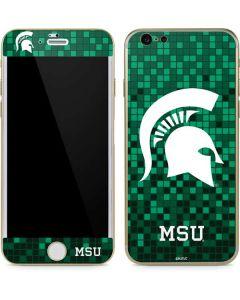 Michigan State Spartans Digital Pixels iPhone 6/6s Skin
