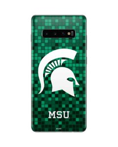 Michigan State Spartans Digital Pixels Galaxy S10 Plus Skin