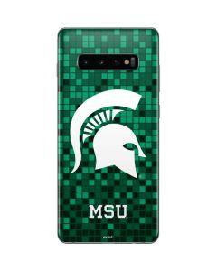 Michigan State Spartans Digital Pixels Galaxy S10 Plus Skin