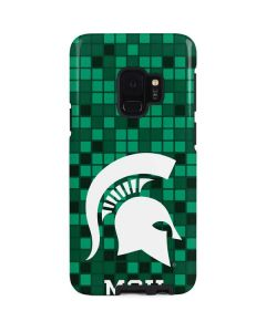 Michigan State Spartans Digital Pixels Galaxy S9 Pro Case