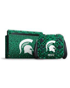 Michigan State Spartans Digital Pixels Nintendo Switch Bundle Skin