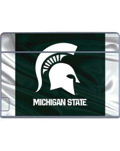 Michigan State University Away Grey Jersey Galaxy Book Keyboard Folio 12in Skin