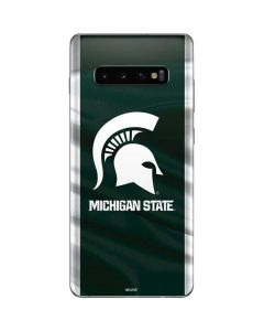 Michigan State University Away Grey Jersey Galaxy S10 Plus Skin