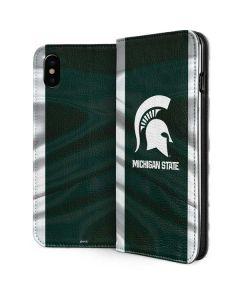 Michigan State University Away Grey Jersey iPhone XS Max Folio Case