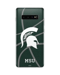 Michigan State University Green Basketball Galaxy S10 Plus Skin
