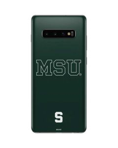 Michigan State University MSU Letters Galaxy S10 Plus Skin