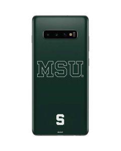 Michigan State University MSU Letters Galaxy S10 Plus Skin