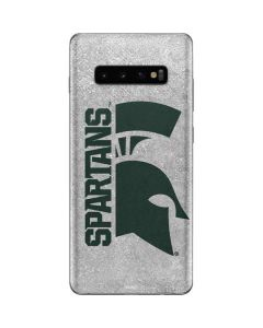 Michigan State University Spartans Half Logo Galaxy S10 Plus Skin