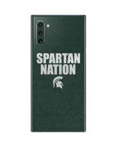 Michigan State University Spartans Nation Galaxy Note 10 Skin