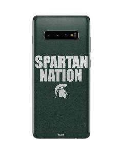 Michigan State University Spartans Nation Galaxy S10 Plus Skin