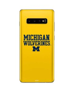 Michigan Wolverines Galaxy S10 Plus Skin