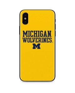 Michigan Wolverines iPhone X Skin