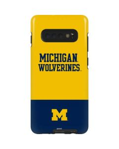 Michigan Wolverines Split Galaxy S10 Plus Pro Case