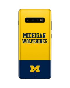 Michigan Wolverines Split Galaxy S10 Plus Skin