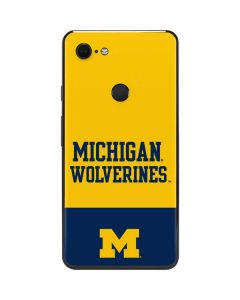 Michigan Wolverines Split Google Pixel 3 XL Skin