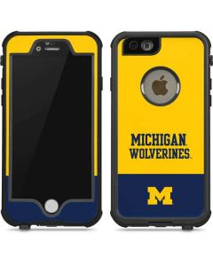 Michigan Wolverines Split iPhone 6/6s Waterproof Case