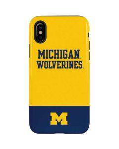 Michigan Wolverines Split iPhone X Pro Case