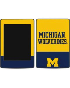 Michigan Wolverines Split Amazon Kindle Skin