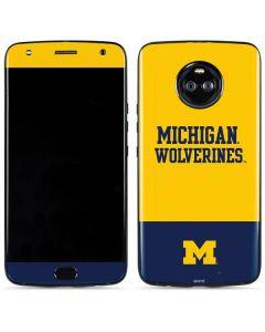 Michigan Wolverines Split Moto X4 Skin