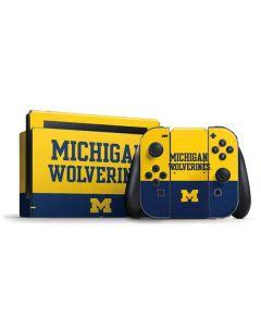 Michigan Wolverines Split Nintendo Switch Bundle Skin