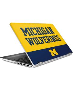 Michigan Wolverines Split HP Pavilion Skin