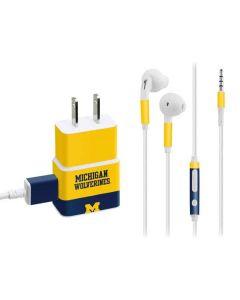 Michigan Wolverines Split Phone Charger Skin