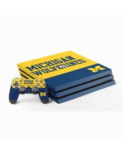 Michigan Wolverines Split PS4 Pro Bundle Skin