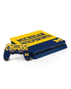 Michigan Wolverines Split PS4 Slim Bundle Skin