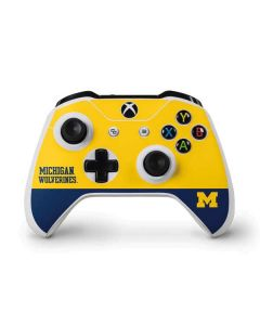 Michigan Wolverines Split Xbox One S Controller Skin