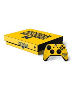 Michigan Wolverines Xbox One X Bundle Skin