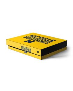 Michigan Wolverines Xbox One X Console Skin