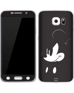 Mickey Mouse Jet Black Galaxy S6 Skin