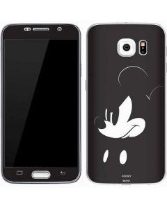 Mickey Mouse Jet Black Galaxy S7 Skin