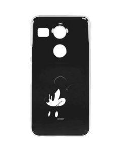 Mickey Mouse Jet Black Google Nexus 5X Clear Case
