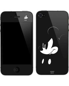 Mickey Mouse Jet Black iPhone 4&4s Skin