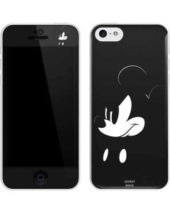 Mickey Mouse Jet Black iPhone 5c Skin