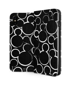 Mickey Mouse Silhouette iPhone XS Folio Case