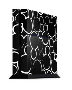 Mickey Mouse Silhouette PS4 Console Skin