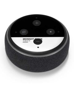 Midnight Black Amazon Echo Dot Skin
