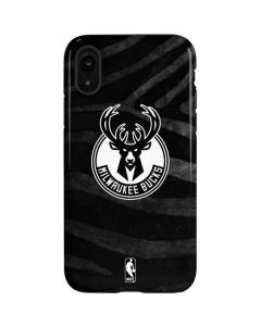 Milwaukee Bucks Animal Print Black iPhone XR Pro Case