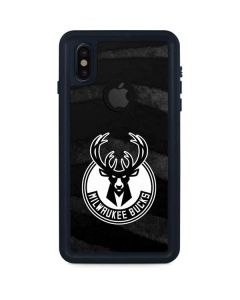 Milwaukee Bucks Animal Print Black iPhone XS Waterproof Case