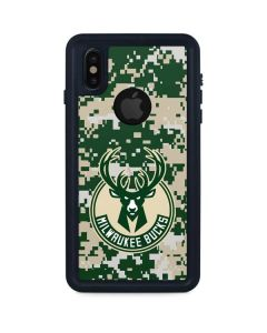 Milwaukee Bucks Camo Digi iPhone XS Waterproof Case