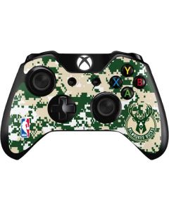 Milwaukee Bucks Camo Digi Xbox One Controller Skin